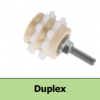 Chain Lubrication Pinion, Straight Axis, PU-foam, 1½ʺ x 1ʺ Duplex