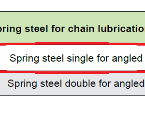 Spring Steel For Chain Lubrication Pinion (Simplex)