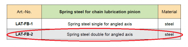Spring Steel For Chain Lubrication Pinion (Duplex)